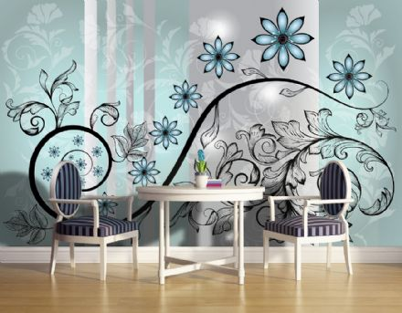 Wallpaper murals Abstract Flower